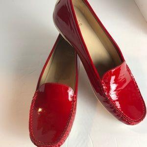 New Stuart Weitzman Red Patent Leather flats